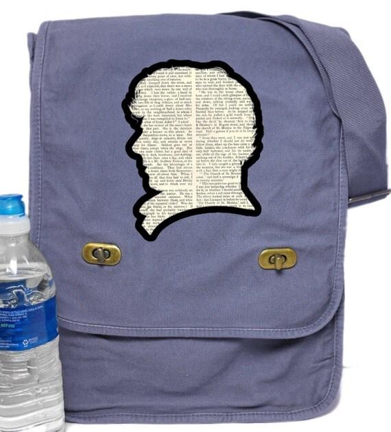 BBC Sherlock Print Messenger Bag - Field Style