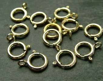 Gold Filled Spring Ring Clasp 6mm (CG1391)