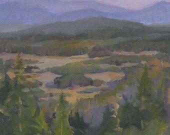 """Sale! Art painting Oregon landscape """"Valley Sunset"""" original oil 11x14"""""""