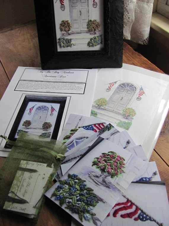 Americana Door Printed Embroidery Kit