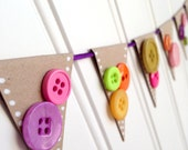 Button Pennant Garland
