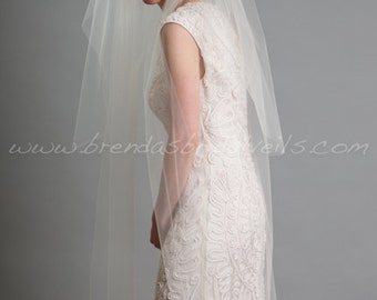 Lace Juliet Cap and Blusher with Detachable Long Tulle Bridal Veil, 1920s Inspired Bridal Veil, Wedding Cap Veil