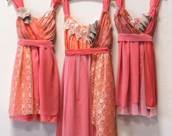 Custom Coral Bridesmaids Dresses