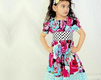 Girls Floral Dress - Flower Dress - Chic Dress
