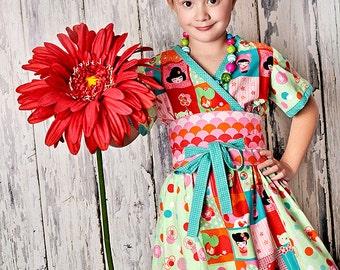Girls Party Dress - Kimono - Girls Kimono