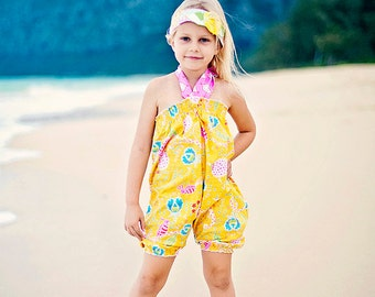 Girls Romper - Yellow Romper - Bubble Romper