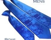 Necktie - men skull tie - RokGear design