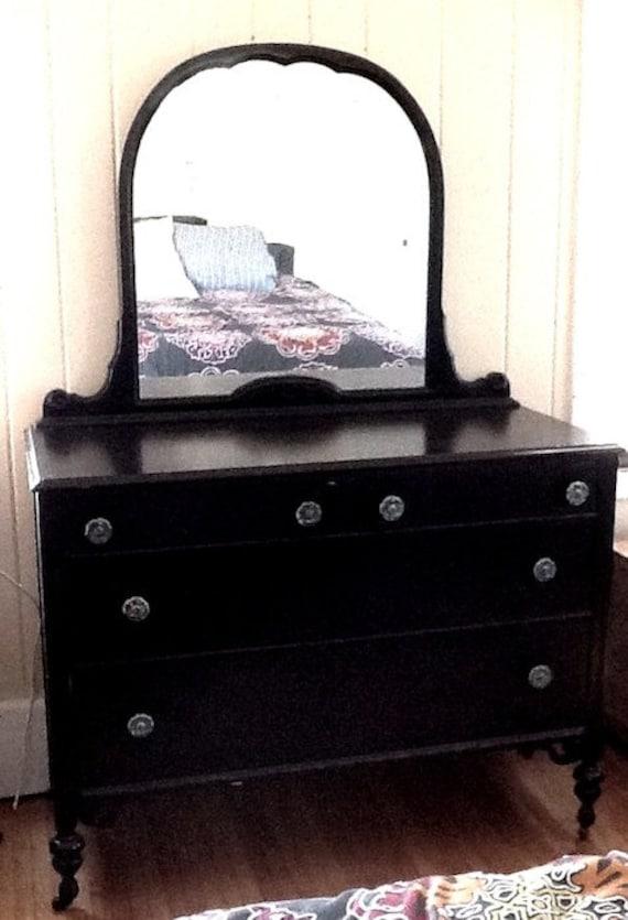 1920s Original Antique Dresser With Mirror By