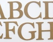 "2""  ELEGANT SERiF-  50 Piece Uppercase Set - Letters - Bare CHiPBOARD Die Cuts - Customize Letters Available"