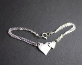 Two Heart charm bracelet - Mother and child - by I Heart This Jewelry