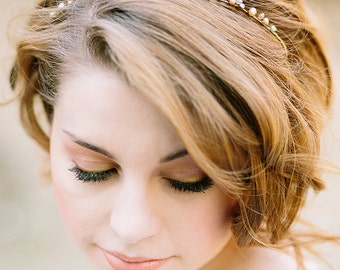 Bridal Headband with Pearls Crystals Rhinestones, Wedding Headband, Bridal Headpiece