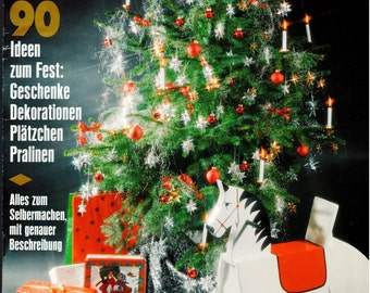 Special Burda Magazine - GERMAN Version - Patterns Included - Christmas - Issue E131 - 1990
