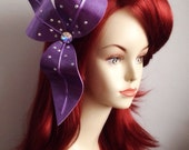 The Little Mermaid Ariel hair flower clip -PURPLE