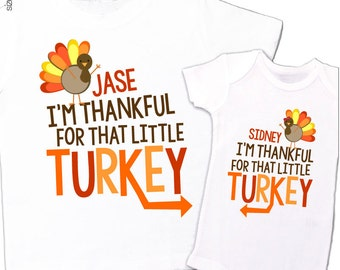 thanksgiving shirts matching for big brother little brother or any big sister little sister twins sibling set perfect for turkey day
