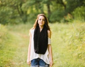 Pick Your Color Infinity Scarf // Handknit Long Wrap Scarf in Custom Color // Made to Order Knit Scarf