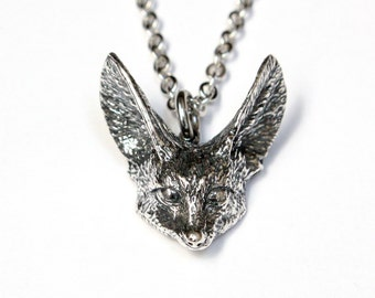 Silver Fennec Fox Necklace  407
