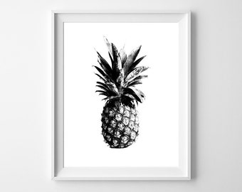 Pineapple Love. - Modern 8x10 inch Poster on A4 - Print Home Decor