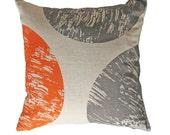 Throw Pillow Cover - 'Curve - Orange'