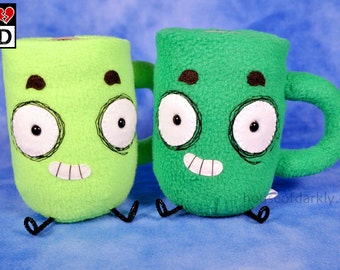 Hug-A-Mug Limited Edition plush coffee mug 2 colors