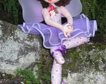 e-Pattern - Ella - a lovely ballerina/fairy cloth doll