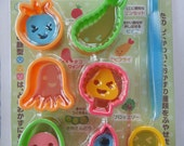 Cute Japanese Bento Lunch Box Rice Molds / Cookie Cutters / Ham / Cheese / Sandwich Cutters & Stamps Set - Food, Broccoli, Shrimp, Egg, etc