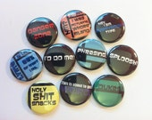 Archer quotes set of 10 one inch buttons
