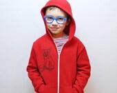 Fox Hoodie - Red (2,4,6)