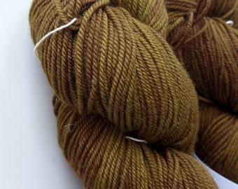 Madelinetosh Tosh Pashmina - Moss - Green Brown Sport DK Hand Dyed Luxury Superwash Merino Silk Cashmere Yarn