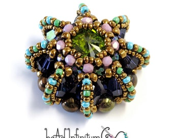 Rivoli Urchin Pendant with Aqua Lime Amethyst