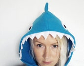 Blue Shark Cape, Halloween Costume or Dress Up Cape for all ages