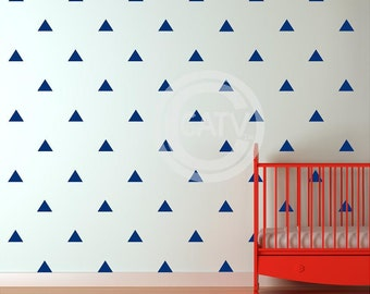 Vinyl decal tribal triangle wall pattern decals (You Choose SIZE and COLOR) vinyl wall art stickers nursery decor