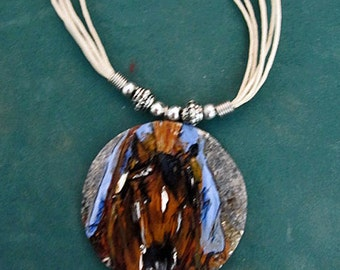 Quarter Horse Art  hand painted necklace
