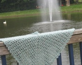 easy beginner lace crochet shawl pattern - so easy it's sinful simple designed by Anastacia Knits Designs