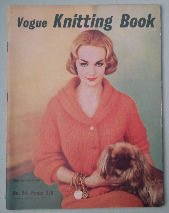 Vintage Vogue Knitting Book No 54 1959 1950s by ...