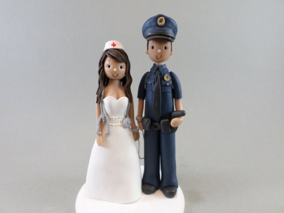 police officer and nurse wedding cake topper officer amp custom made wedding cake topper 18671