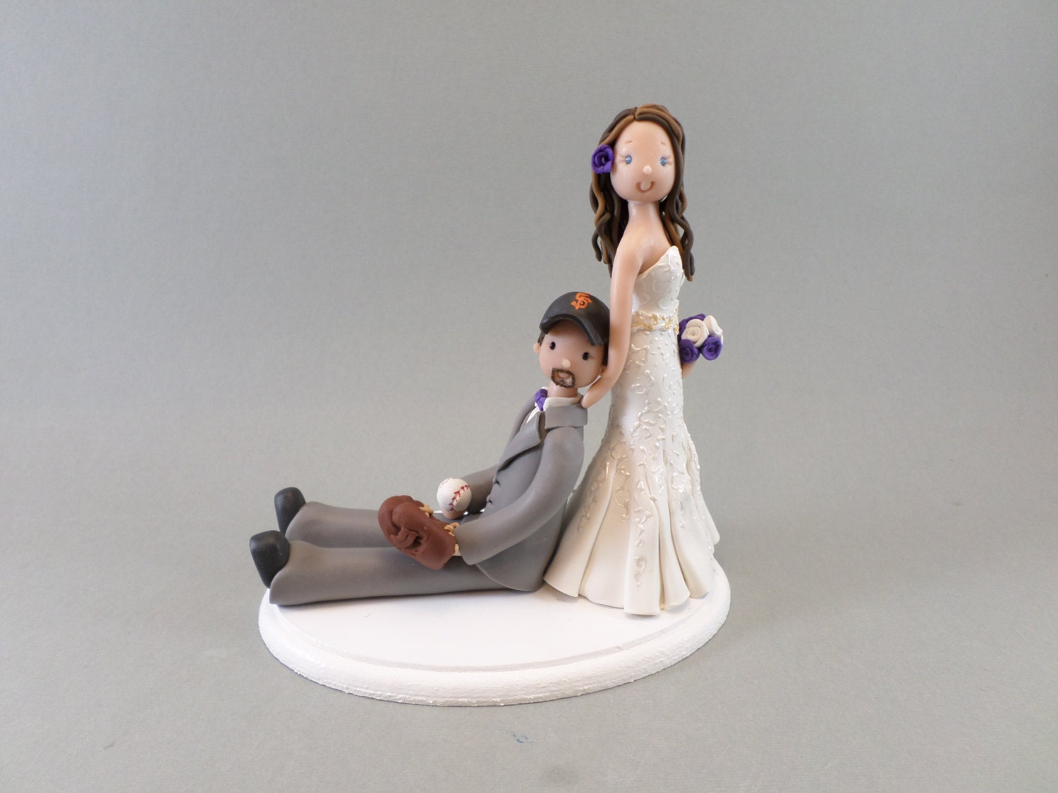 bride dragging groom wedding cake toppers custom wedding cake topper dragging groom baseball fan 12132