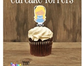 Alice in Wonderland Party - Set of 12 Alice Cupcake Toppers by The Birthday House