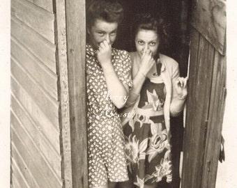 At least I don't stink!  Vintage photo ephemera.  Digital Download Image.