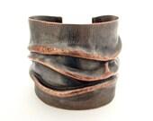 Artisan Jewelry/Copper Jewelry /Boho Jewelry /Metal Jewelry /Copper Cuff Bracelet /Hammered Jewelry /Unique Jewelry /USA FREE Shipping /SALE