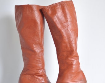 SALE! Vintage 70's Leather Hippie Boots Air Step brand