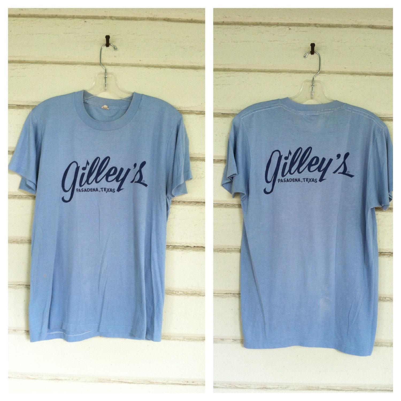 Vintage 70s gilleys t shirt urban cowboy thin tshirt tee for T shirt printing pasadena tx