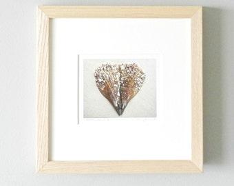 Framed Photography, Heart Art, Valentine Day Home Decor, Framed Art Ash Wood, Seashell Nature Photo,Custom Framed Print,11x11