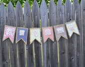 Autumn Hand Embroidered Banner Garland Fall Decoration Wedding Thanksgiving