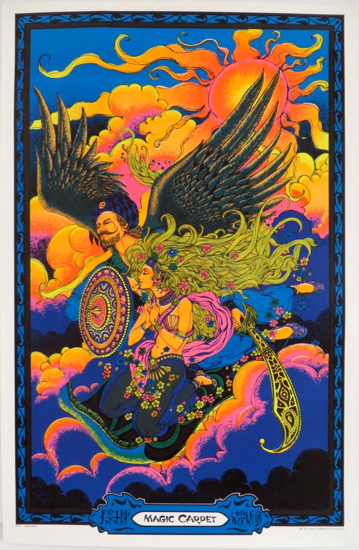 Vintage Blacklight Poster Magic Carpet by EmeraldCityPosters