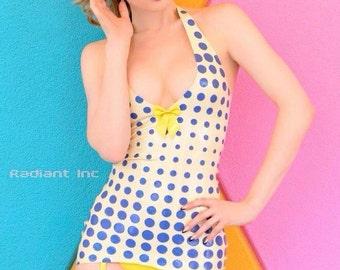 Latex Rubber POP Art dress