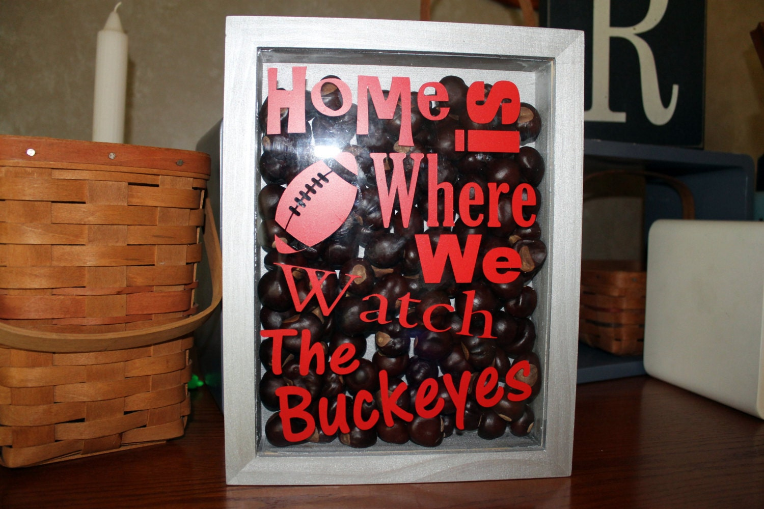 Ohio State Decor Home Is Where We Watch The Buckeyes Shadow Home Decorators Catalog Best Ideas of Home Decor and Design [homedecoratorscatalog.us]