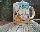Vintage Designers Collection Coffee Cup...Coffee Mug...Tea Cup...Tea Lovers...Novelty Mug...Secretary Gift...Circa 1978...Retro Kitchenware