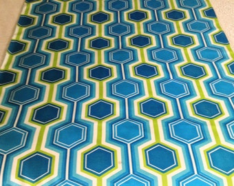 Mad Mod Mid Century Geometric Op Art Fabric// Fab 60s Psychedelic // Rayon Yardage// New Old Stock// By the Yard