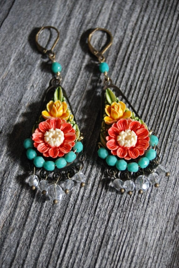 Frida's Garden earrings