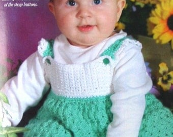 ON SALE: Green & white St. Patrick's Day sundress or jumper for baby girl 6 months - Featured in a magazine